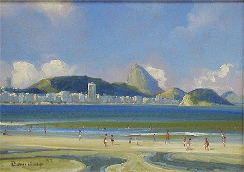 BENIGNO - Praia de Copacabana, 1992,ost16 x 22 cm