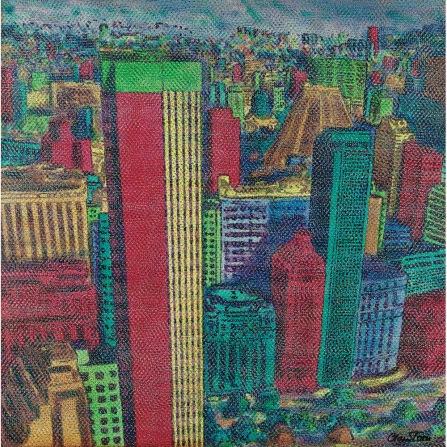 Claudio Tozzi, Rio de Janeiro, 1983, ast colada madeira, 70 x 70 cm
