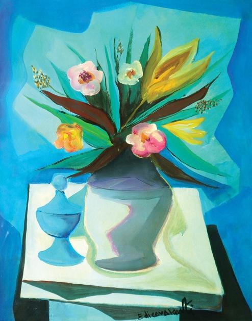 Emiliano Di Cavalcanti , Vaso de flores OSC , Déc. 60 70 x 55