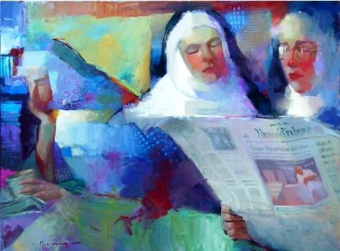 Michael Steirnagle, Reading Habits, ost, 75 x 100cm