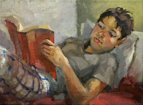Summer reading, 2011 by Natalia Andreeva born in Novosibirsk, Russia living in Tallahassee (Florida), USA