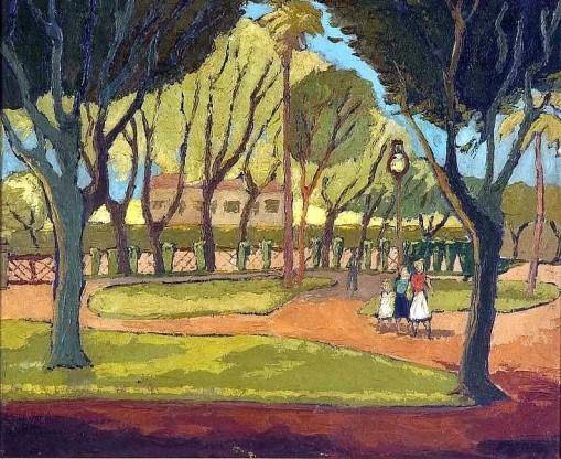Gastão HOFSTETTER, 1917-1986Praça Pinheiro Machado, POA, 1955,ost, 49x 61cm Pinacoteca ALDO LOCATELLI