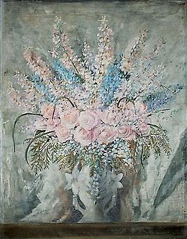 GILBERTO TROMPOWSKY,(Brasil, 1912-1982)Flores,óleo tela, 1941-44 91 x 72,5 cm