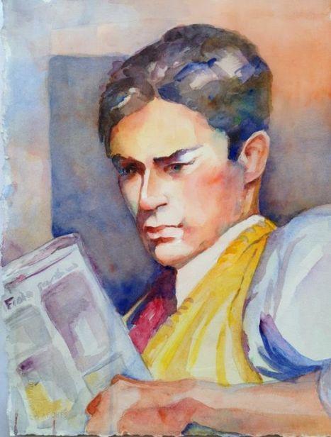 Merrie C. Ligon (EUA) O leitor, aquarela sobre papel