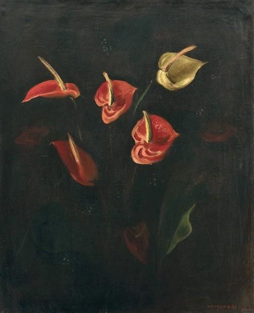 Cândido Portinari, Antúrios, Óleo sobre tela, 1944, 74 X 60 cm