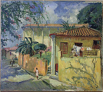 Marie Nivouliés de Pierrefort, Casas na Glória, ost, 1950s, 58 x 65