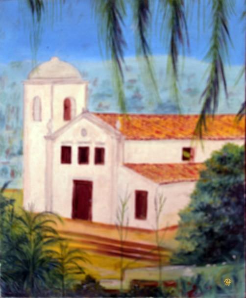 Pintura de Beato Ten Prenafeta Óleo sobre tela Cuiaba Igreja de São Benedito