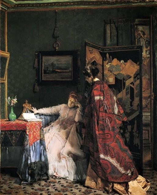 Alfred-Stevens, The visit