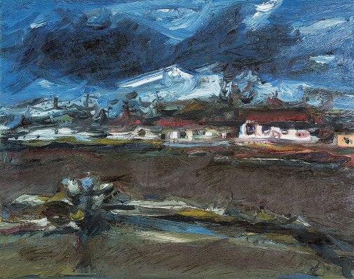 DAREL Valença Lins,Tempestade,óleo s tela,(década de 1970)67 x 86 cm