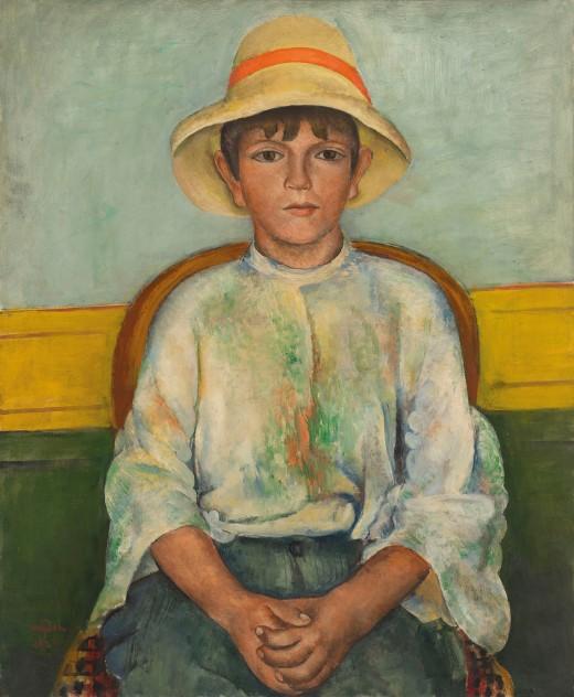 Henri Hayden (1883-1970)Portrait d'un jeune garçon,signed and dated 'Hayden 1921' (lower left)oil on canvas, 73 x 60 cm, Painted in 1921