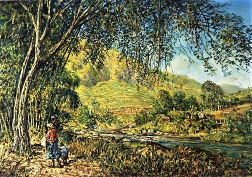 Willem Leendert van Dick (Holanda-Brasil, 1915-1990) Paisagem de Petropolis, 1961, ost, 95 x 121 cm