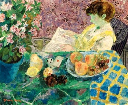 emilio grau sala (1911-1975)senhora lendo o jornal ost, 60 x 72, christies 3