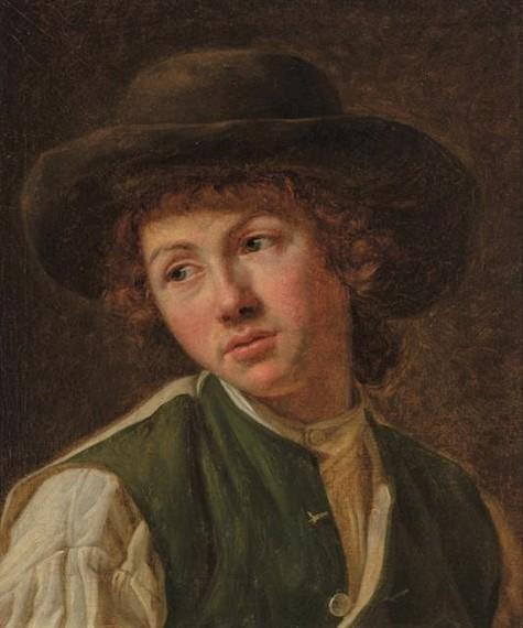 Jeanne-Philiberte Ledoux (1767 – 12 October 1840) Cabeça de jovem, ost, 45 x 37 cm (2)
