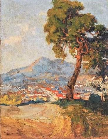 PAULO DO VALLE JÚNIOR (Brasil, 1889-1958)Paisagem de Santos, ost, 90 x 68 cm