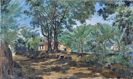 WAMBACH, Georges (1902 - 1965) Paquetá, o.s.t. - 88 x 145 cm. Ass e dat 1943