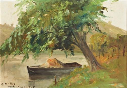 Aníbal Mattos (Brasil, 1886-1969), rio, cataguazes, 1928, osm, 49 x 34 cm