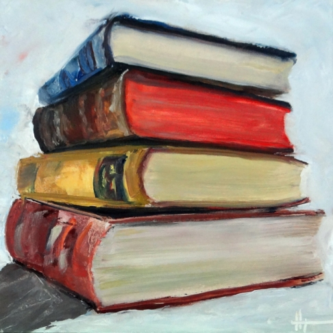 stack of books, Diana Lynn