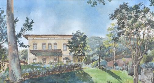 WAMBACH, Georges (1902 - 1965) Alto da Boavista, o.s.t. - 60 x 110 cm. Ass. e dat 1947