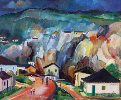 Wilde Lacerda,Paisagem de Diamantina – ost,1972 - 46 x 55