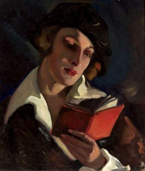 Woman Reading by Irena Łuczyńska-Szymanowska (Polish,1890-1966); oil on canvas, 56 x 49, National Museum, Warsaw.