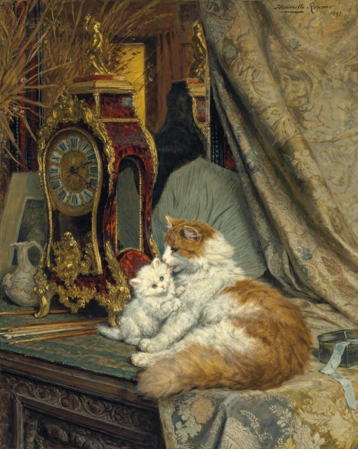 2012_NYR_02547_0024_000(henriette_ronner-knip_a_mother_cat_and_her_kitten_with_a_bracket_clock)