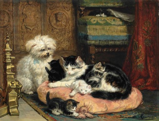 2016_CKS_12228_0015_000(henriette_ronner-knip_a_mother_with_her_playful_kittens_watched_over_b)