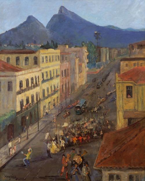 Haydea Santiago,Carnaval na rua das laranjeiras, OST 80 x 64,1938