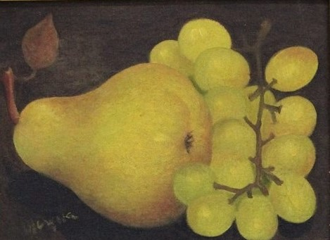 MARYSIA PORTINARI. Pera e uva - o.s.t. - 18 x 24 cm - assinado no cie.