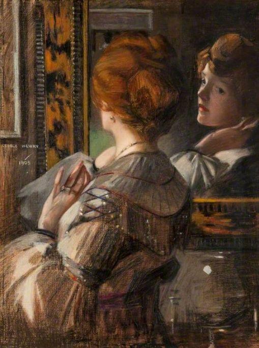 George Henry, Escocia, 1848, o espelho de tartaruga