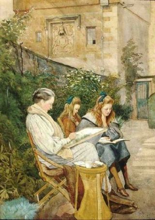 George Howard (GB) a family reading